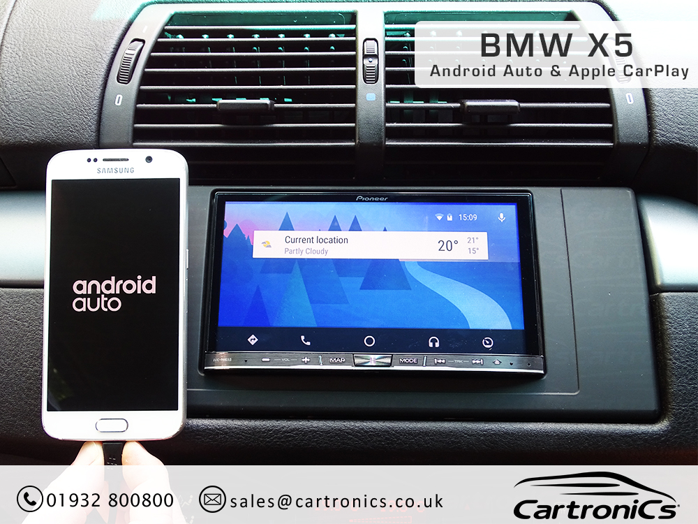 BMW X5 Radio Nav Double Din Upgrade
