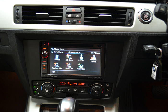 Retrofit Pioneer Touch Screen Navigation System To Bmw 3