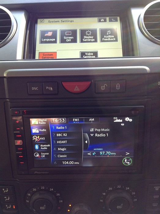 Landrover Disco 3 Pioneer Double Din Oem System