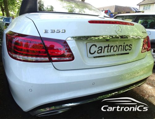 Mercedes E350 retrofit rear parking sensors