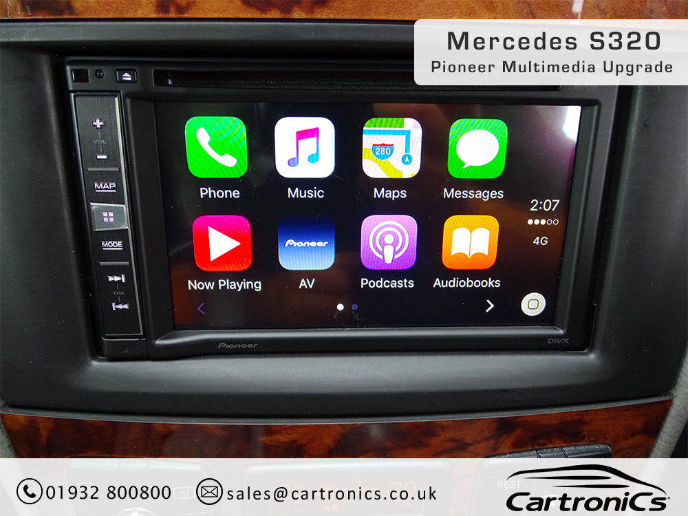 mercedes s320 radio navigation double din upgrade. Black Bedroom Furniture Sets. Home Design Ideas