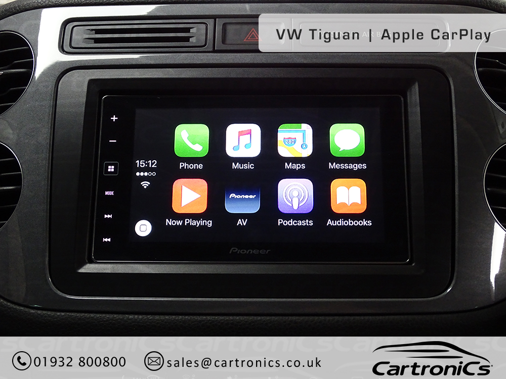 vw tiguan with apple carplay double din upgrade. Black Bedroom Furniture Sets. Home Design Ideas