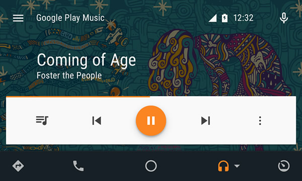 stream music with Android auto and Google play music & Spotify