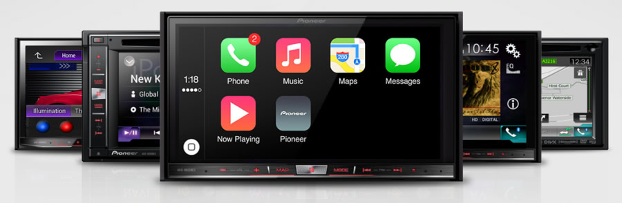 Apple CarPlay Pionner install for iPhone at Cartronics